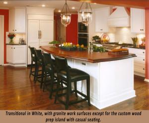 Transitional In White Custom Kitchen
